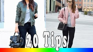 20 Style Tips On How To Wear Bomber Jackets