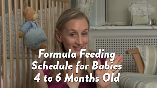 Formula Feeding Schedule for Babies 4 to 6 Months Old | CloudMom