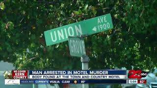 Man arrested in motel murder