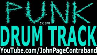 Punk Rock Drum Backing Track 150 bpm Drums Only