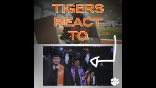 Clemson Football    🐅Tigers React to...Graduation from Clemson University