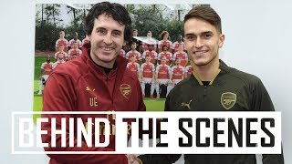 Denis Suarez's first day at Arsenal   Exclusive behind the scenes video