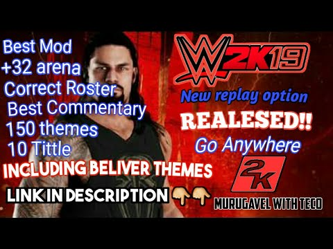 Wr3d Wwe 2k19 Mod by Mangal yadav  New moves  Go anywhere