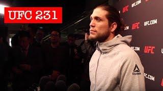 BRIAN ORTEGA UFC 231 OPEN WORKOUT SCRUM
