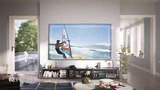Compare TV sizes of 43, 65 and 82 inches and see how big Samsung Super Big is: