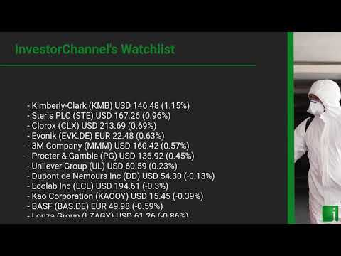InvestorChannel's Disinfection Watchlist Update for Thursday, September 24, 2020, 16:30 EST