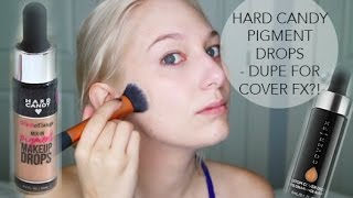 HARD CANDY PIGMENT DROPS - COVER FX DUPE?!