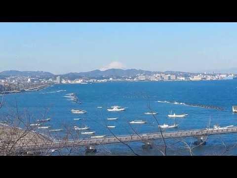 走水小学校からの富士山 海岸