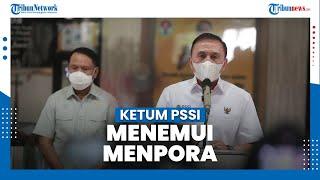 Ketua PSSI Temui Menpora Bahas Sepak Bola Indonesia