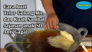 Cara buat telur gulung mie & kuah sambal