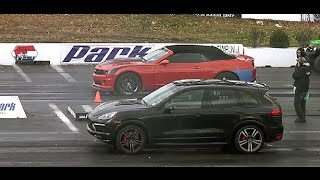 DRAG RACING: 2014 PORSCHE CAYENNE GTS