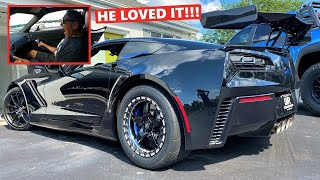 STREET TESTING My 1,200HP ZR1's New Drag Pack!!! *67 Year Old Neighbor Comes Along LOL*