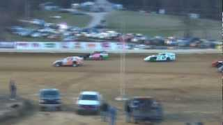 preview picture of video 'Jackson County Speedway (OH) $1,000 to win AMRA Modified Feature Highlights 3-23-2013'