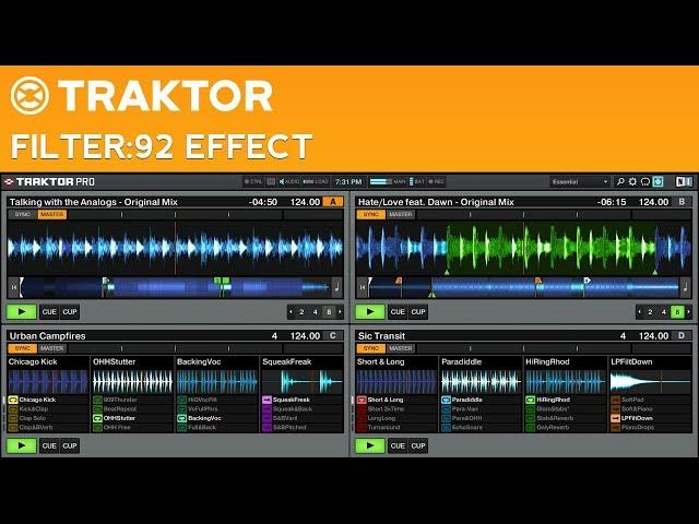 Traktor Pro 2 Filter:92 Effect Tutorial