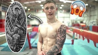 TATTOOS ARE BANNED IN GYMNASTICS?.. OOPPS! **Sorry Nan**