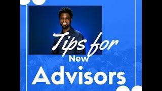 Tips for new academic advisors