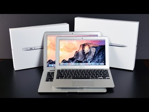 """Apple MacBook Air 11"""" & 13"""" (2015): Unboxing and Comparison"""