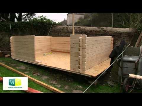 download link youtube montage chalet de jardin en bois madriers. Black Bedroom Furniture Sets. Home Design Ideas