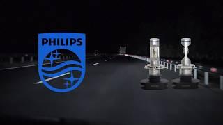 Сравнительный визуальный тест светодиодных ламп Philips X-treme Ultinon LED H4 и китайских аналогов.