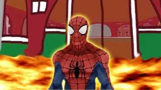 FLOOR is LAVA CHALLENGE NEIGHBOR VS SPIDER MAN
