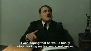 Hitler is informed Hitler Rants Parodies is taking a break from making parodies
