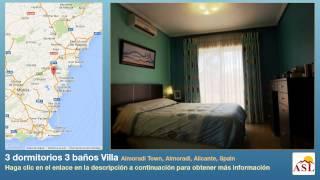 preview picture of video '3 dormitorios 3 baños Villa se Vende en Almoradi Town, Almoradi, Alicante, Spain'