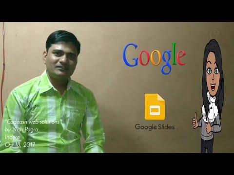 Google slides | how to make online presentation | powerpoint presentation maker | yash pogra