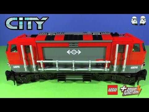 Vidéo LEGO City 60098 : Le train de marchandises rouge