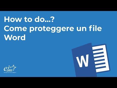 Come proteggere un file Word