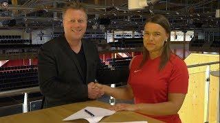 Lagkapten Amanda Gezelius har precis signat för ytterligare ett år i Storvreta
