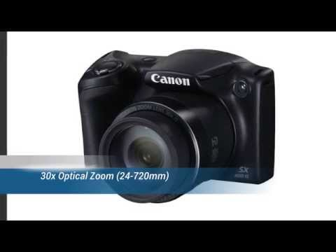 Canon Powershot SX 400 IS 16.0 MP Digital Camera with 30X Zoom & 720HD Video