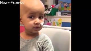 Brave 3 year old girl sings Adele as she fights rare cancer
