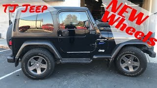 New Wheels On The Jeep Wrangler!!! WOW What A Difference!