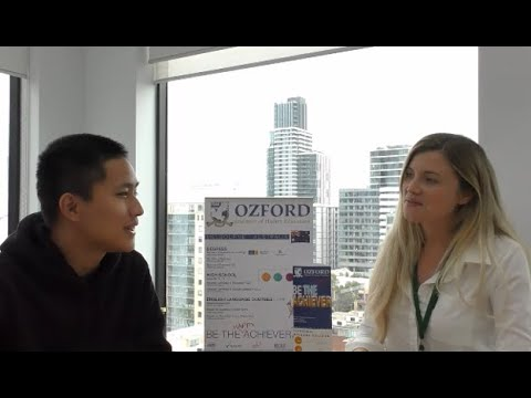 Ozford Katie chats with Year 12 student Ben about his experience here at Ozford Melbourne!