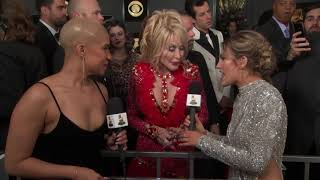 Dolly Parton Red Carpet Interview | 2019 GRAMMYs