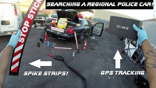 Searching A Regional Transit Police Car Found Spike Strips! Ford Crown Victoria Police Interceptor