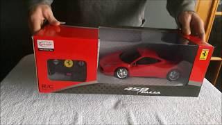 Ferrari Remote Control Car for Kids,458 Italia  PLAYTECH LOGIC LTD UNBOXING, & TEST & REVIEW