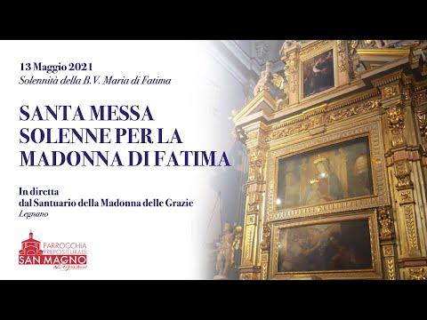 In diretta dal Santuario di Legnano la messa solenne per la Madonna di Fatima