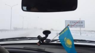 Туркестан-Шымкент тас жолы тазаланбаған