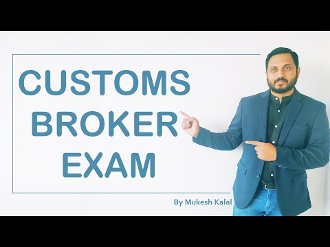 All about Customs Broker or CBLR or F card or Rule 6 Exam ...
