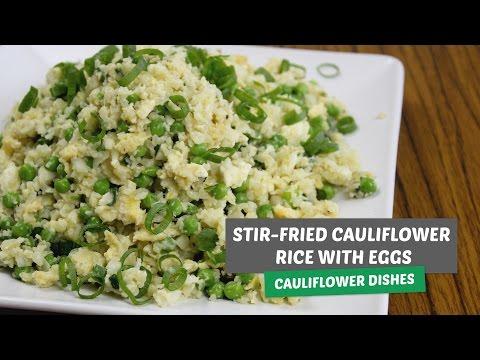 Video recipe: Stir-fried cauliflower rice with eggs | Cauliflower dishes #1