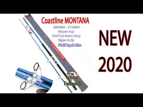 Cần Câu Coastline MONTANA - New 2020 - Siêu Bạo Lực - Phôi Bạch Kim Phủ Keo Xanh - 3m - 3m15