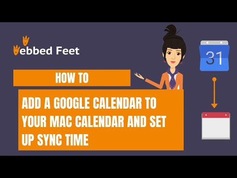 How to add a Google calendar to your Mac Calendar and set up sync time