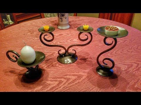 Kerzenhalter aus Metall selber bauen - Kerzenständer, Teelichthalter