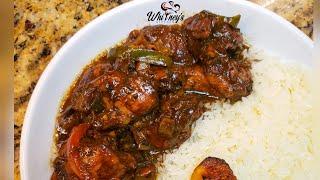 Jamaican Style Brown Stew Chicken Recipe Made EASY || Whitneys Kitchen Jamaica
