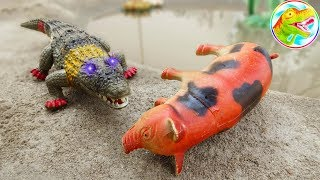 Funny Dinosaurs - Crocodiles and Shore Animals - Toy Toys F363C ToyTV