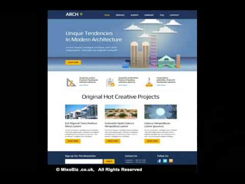 Architecture Building Related Web Design