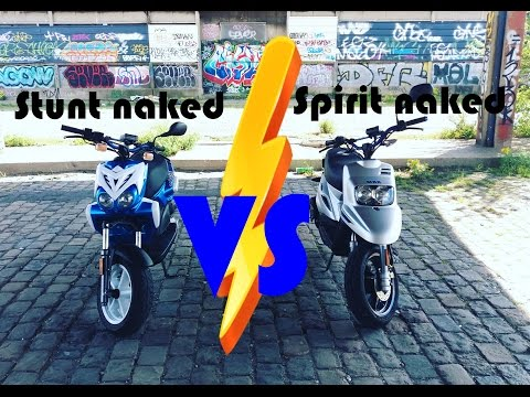 MBK STUNT NAKED VS MBK SPIRIT NAKED (comparatif)