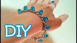 DIY Chain and Beads Bracelet - Very Easy Way To Make A Bracelet