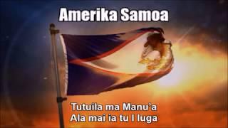 National Anthems of Samoa and American Samoa (Nightcore Style With Lyrics)